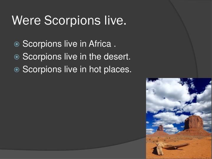 Were Scorpions live.
