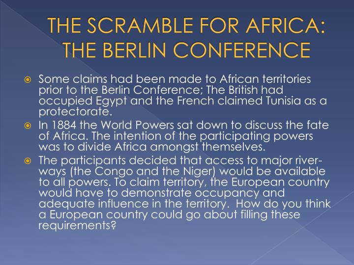 The Scramble For Africa: The Berlin Conference