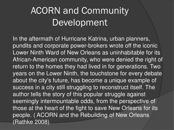 ACORN and Community Development