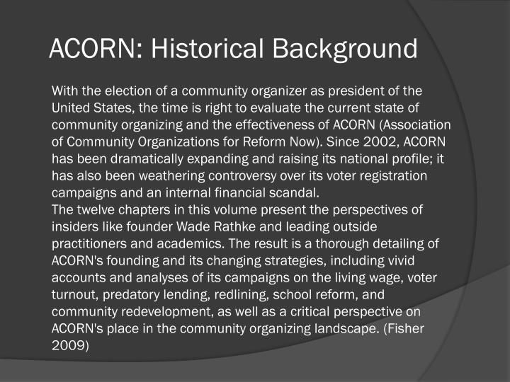 Acorn historical background