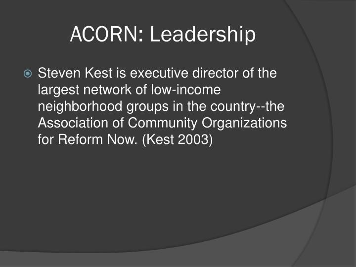 ACORN: Leadership