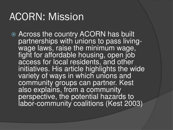 ACORN: Mission