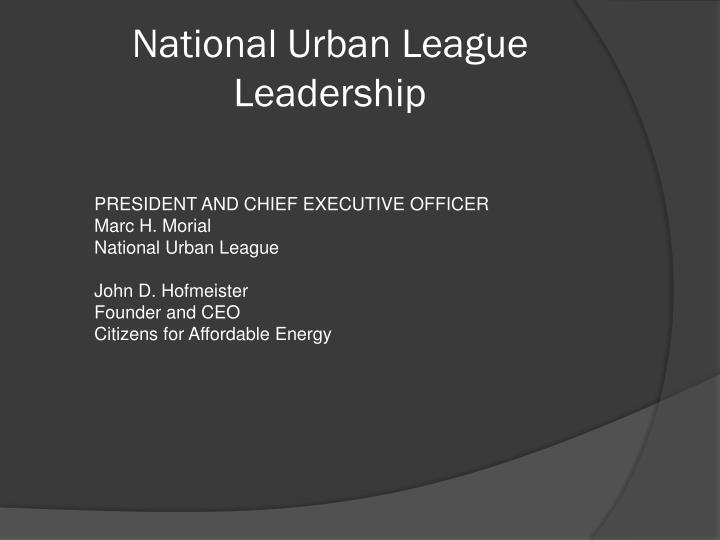 National Urban League Leadership
