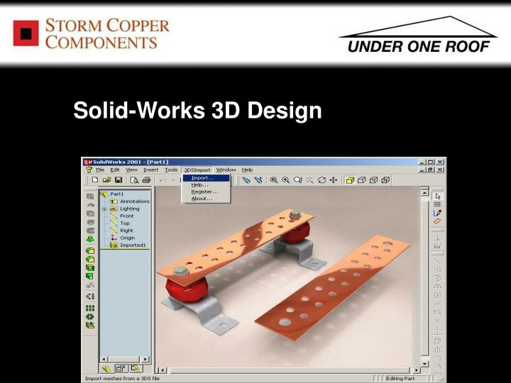 Solid-Works 3D Design