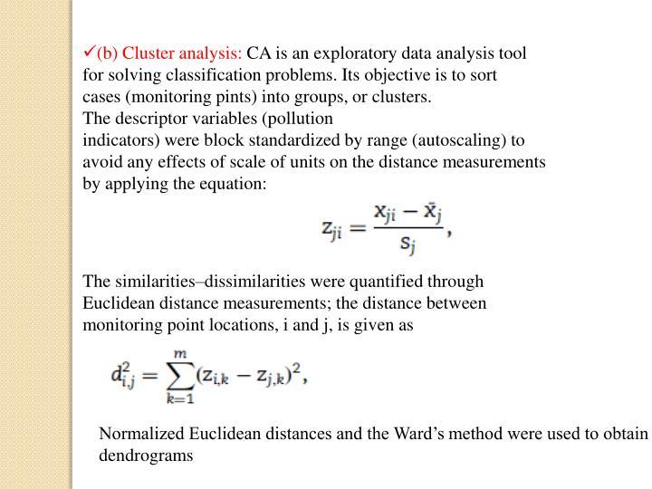 (b) Cluster analysis: