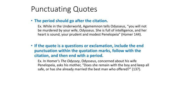 Punctuating Quotes