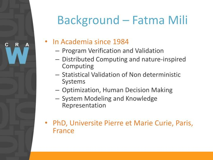 Background fatma mili