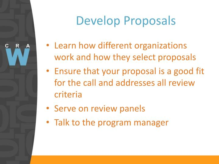 Develop Proposals