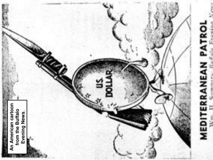 An American cartoon from the Buffalo Evening News