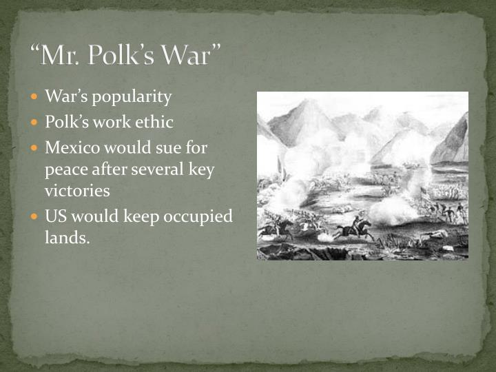 """Mr. Polk's War"""