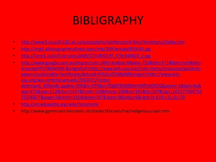 BIBLIGRAPHY