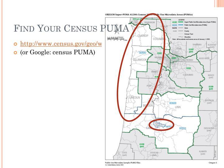 Find Your Census PUMA