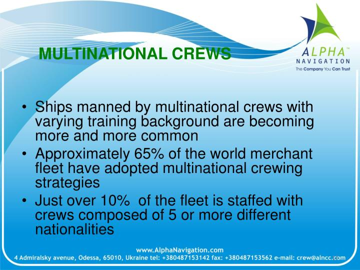 MULTINATIONAL CREWS