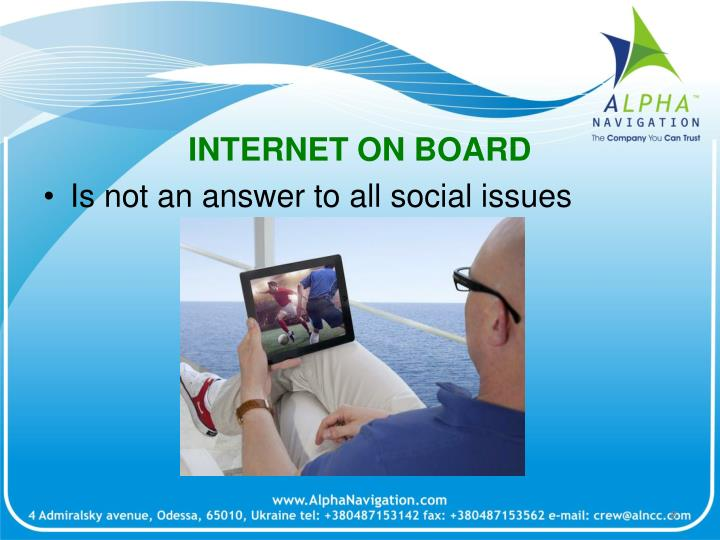 INTERNET ON BOARD