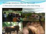 campaign solutions barrier removal 1 alternative livelihood projects other than fishing
