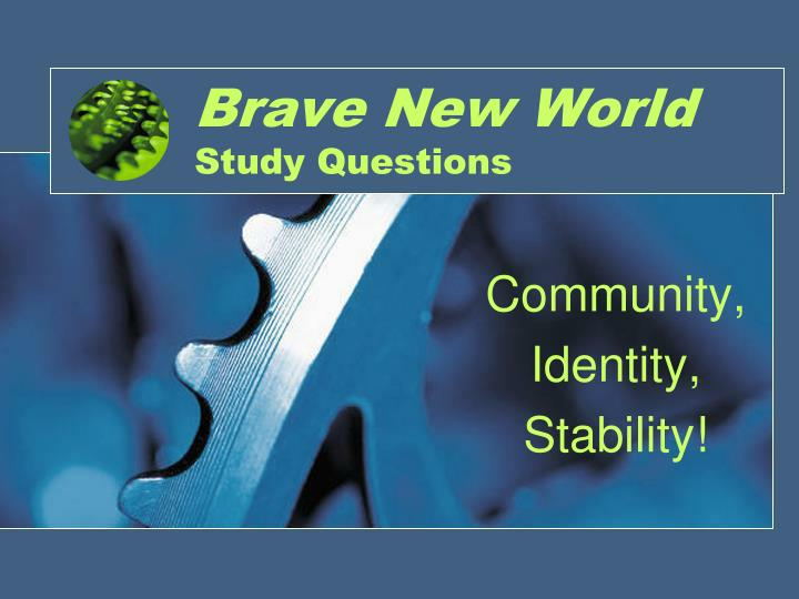 Brave new world study questions