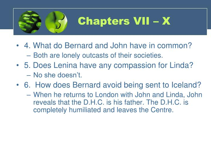 Chapters VII – X