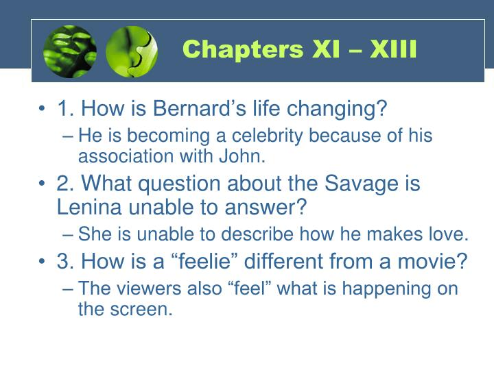 Chapters XI – XIII