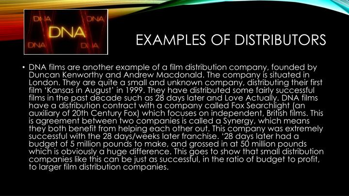 Examples of Distributors