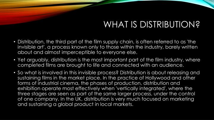 What is distribution