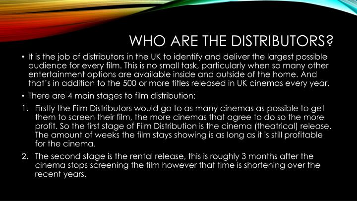 Who are the distributors
