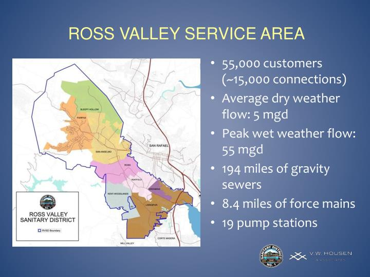 Ross valley service area