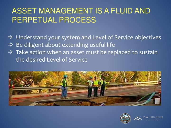 ASSET MANAGEMENT IS A FLUID AND PERPETUAL PROCESS