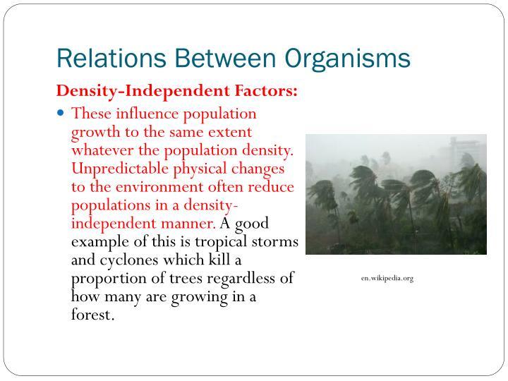 Relations Between Organisms