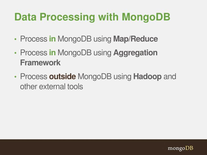 Data Processing with MongoDB