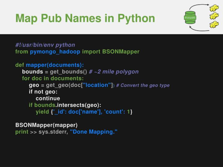 Map Pub Names in Python