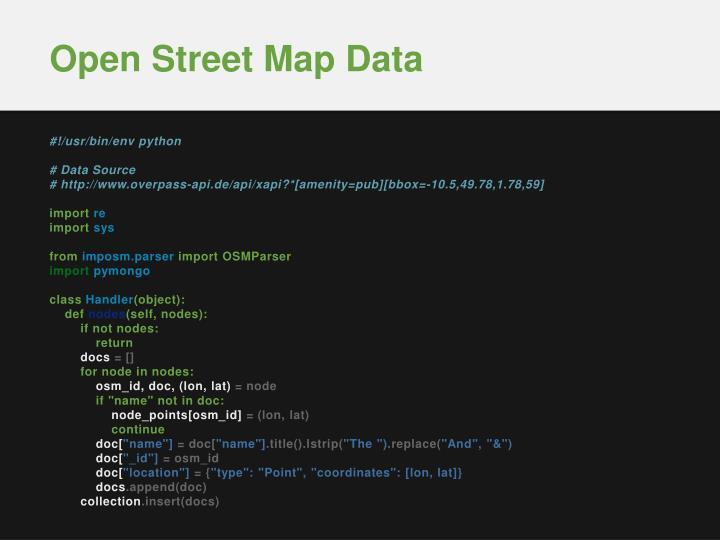 Open Street Map Data