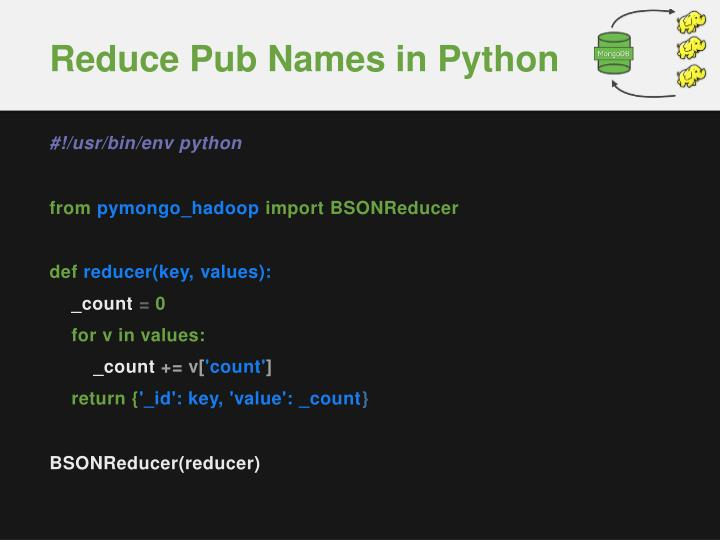 Reduce Pub Names in Python