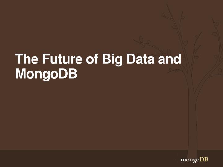 The Future of Big Data and MongoDB