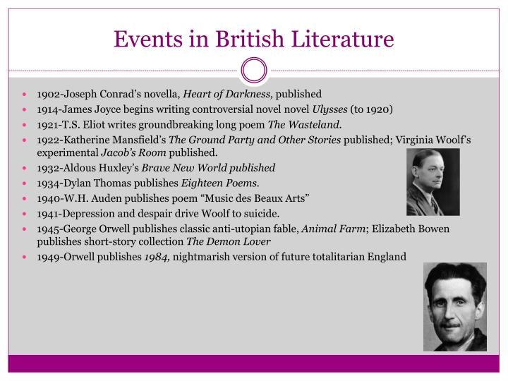 Events in british literature