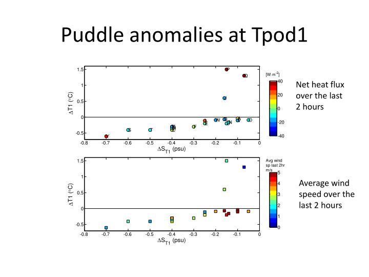 Puddle anomalies at Tpod1