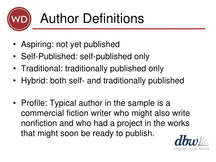 Author definitions