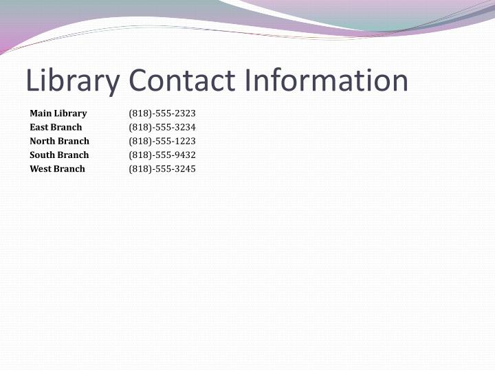 Library Contact Information