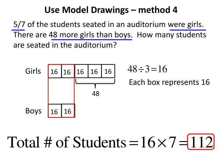 Use Model Drawings – method 4