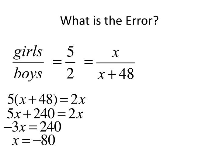 What is the Error?