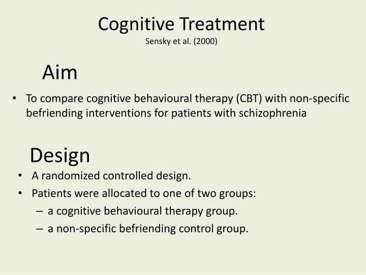 Cognitive Treatment