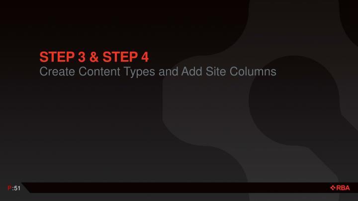 Step 3 & Step 4