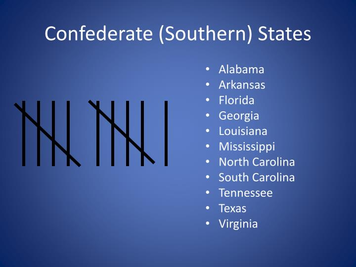 Confederate (Southern) States