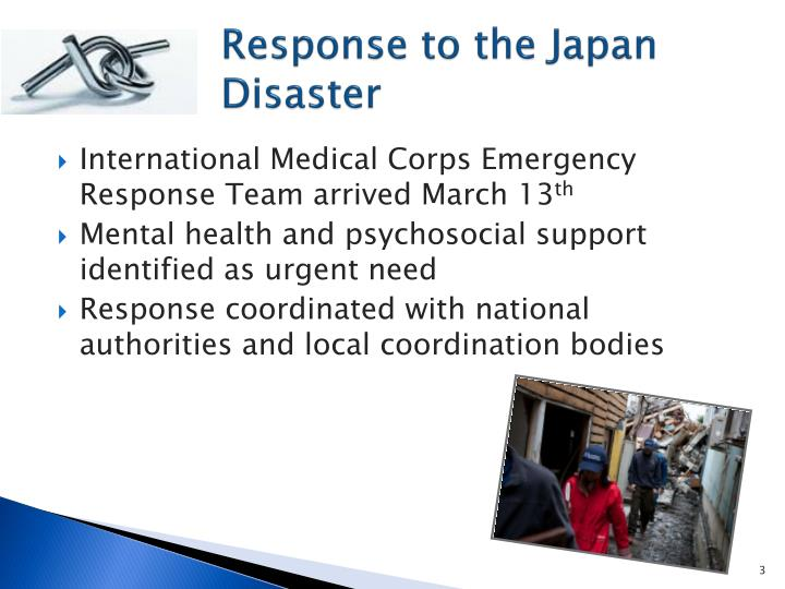 Response to the japan disaster