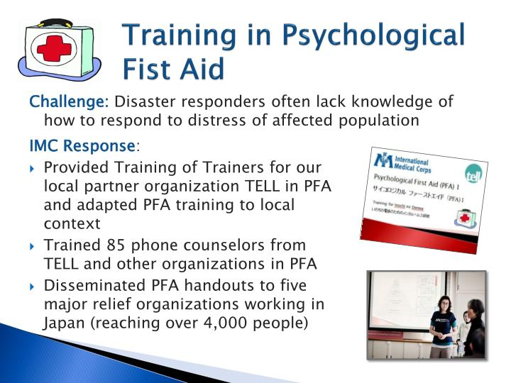 Training in Psychological Fist Aid