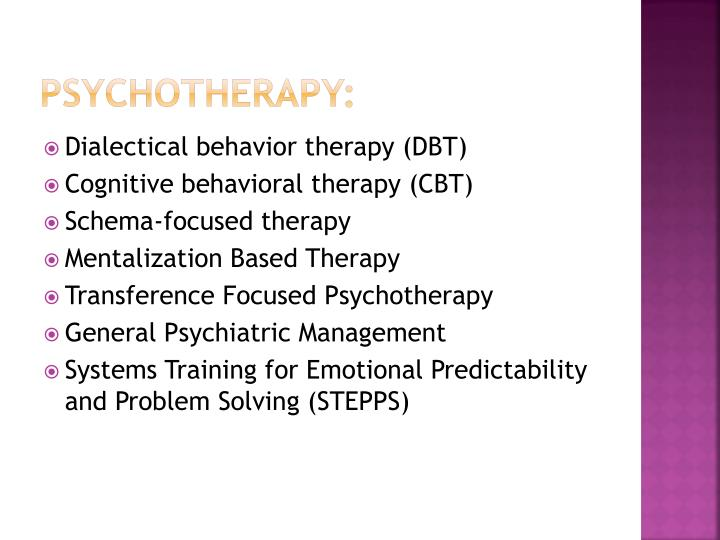 Psychotherapy: