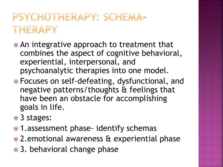 PSYCHOTHERAPY: Schema-therapy