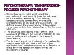 psychotherapy transference focused psychotherapy