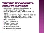 treatment psychotherapy medication management