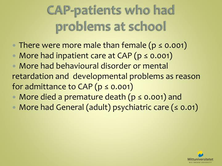 CAP-patients who had