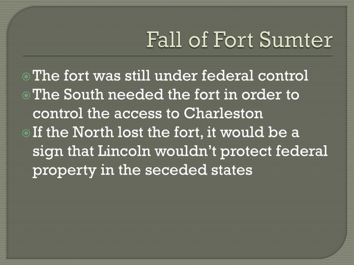 Fall of Fort Sumter
